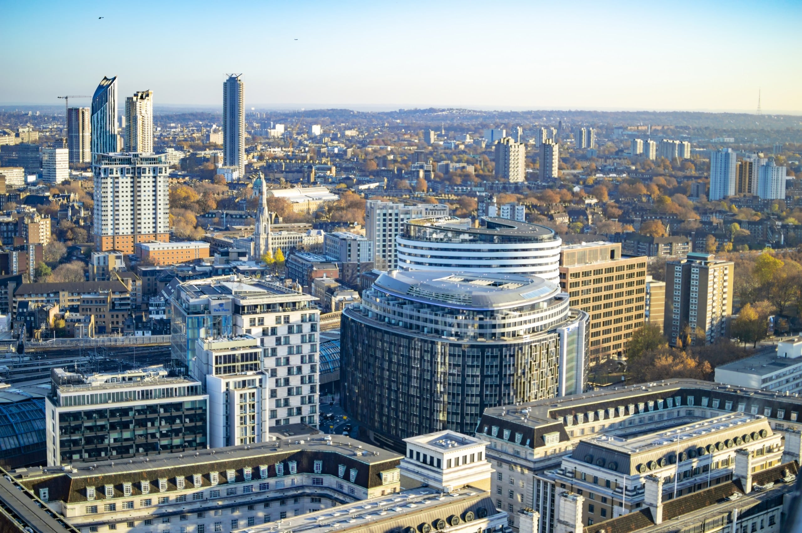 The skyline of south east london and many great buildings